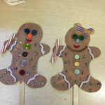 """Gingerbread"" holiday puppets"