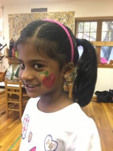 Face painting on Carnival Day