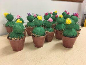 Styrofoam cactuses