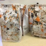 Marble painted goody bags