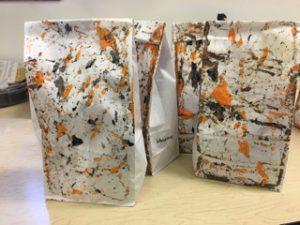 Marble painted goody bags