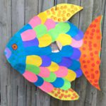 Giant 3D rainbow fish