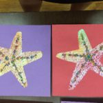 Starfish rubbings